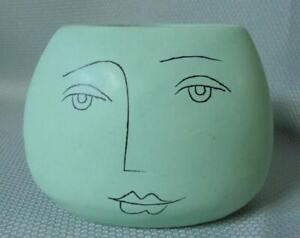 Mid Century Modern Art Pottery Picasso Homage Face Vase
