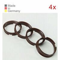 4 Zentrierringe 72,6 x 66,6 passend für BROCK KESKIN OXIGIN AUDI BMW Mercedes VW