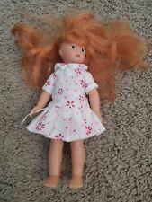 Vtg Gotz Pottery Barn Kids Doll PBK Tan Skin Auburn Hair 6inch W/ Dress