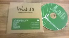 CD Indie Those Dancing Days - In Our Space Hero Suits (12 Song) Promo WICHITA cb