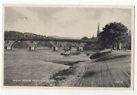 Perth Bridge From North Inch Perthshire Vintage Postcard 882b