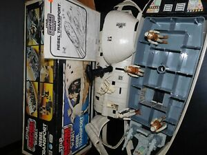 VTG~1977~1980~1981~1982~Star~Wars~Rebel~transport~ship~hoth~soldier~weapons~lot~