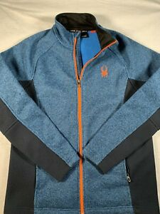 Spyder Venom Long Sleeve Full Zip Jacket Mens Large L Blue