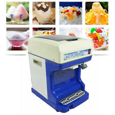 110v Electric Ice Shaver Ice Crusher Automatic Block Shaving Machine 100kgh