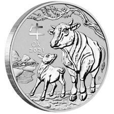 Australien 2 Dollar 2021 - Jahr des Ochsen   Ox (2.) Lunar III - 2 Oz Silber ST