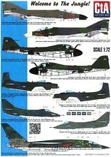 Cta Decals 1/72 Welcome To The Jungle U.S. Navy Aircraft in Olive Drab Vietnam