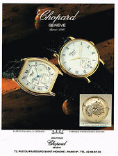 PUBLICITE ADVERTISING 104 1994 CHOPARD  collection montre homme           061014