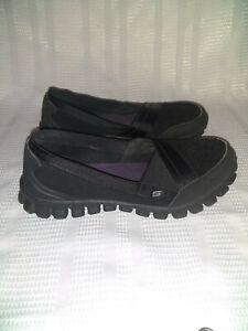 Skechers Black Slip On Memory Foam Fits Size 7 - 7.5