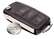 for VW Volkswagen Passat Polo Golf Touran Bora 3 Buttons Remote Key + battery