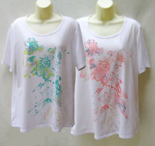 Millers printed white T-shirts x 2 ~ Size 16