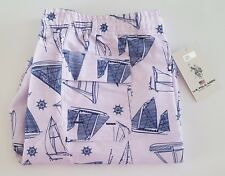 US Polo Assn Board Shorts Large Pink Blue Sailboats Nautical Men's Swim Trunks