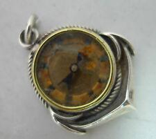 BUSSOLA Vittoriana Argento Pendente Fob Birmingham 1886 1.8cm di diametro A602117