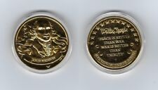 James Madison Gold Plated Coin - Franklin Mints last Hurrah  24K Gold