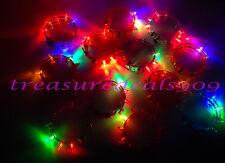 12 PCS FLASHING SPIKE BRACELET LED GLOW LIGHT UP PARTY FAVORS BLINKING FLASH EDC