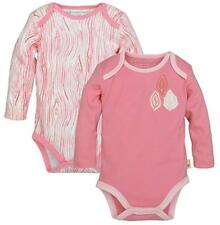 Burt's Bees Baby Set of 2 Long Sleeve Bodysuits Water Lilly Preemie Cotton NWT
