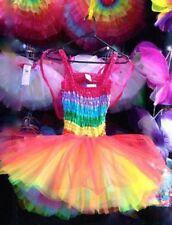 NEW Adult Womens Tutu Costume /Fairy dress 7 Layer Rainbow