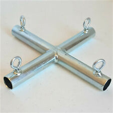 "4 way FLAT ""X"" CROSS FITTING (fxa) 3/4"" Pipe ~ Canopy Part"
