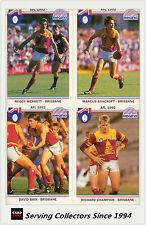 1992 Regina AFL Trading Cards Club Team Set Brisbane (9) -- Mint!