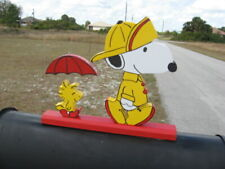 """NEW Snoopy & Woodstock """"Singing in the Rain"""" Mailbox Topper Handmade"""