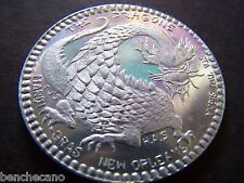 1968 The Dragons (HAS) DON'T TAKE WOODEN NICKEL Aluminum Mardi Gras Doubloon