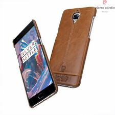 100% Original Pierre Cardin Luxury Leather Case Back Cover for Oneplus 3/3T 1+3