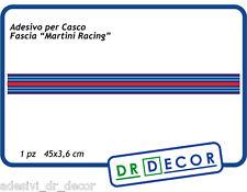 """Adesivo per Casco """"Martini Racing"""", 45x3,4 cm - Cambia Look al tuo casco"""