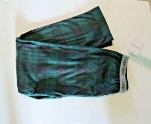 Calvin Klein Boys Lounge pajama Pants size 10/12 L green/black plaid