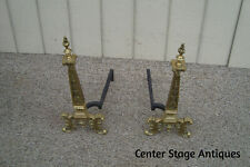 60937 Pair Fireplace Mantle Andirons