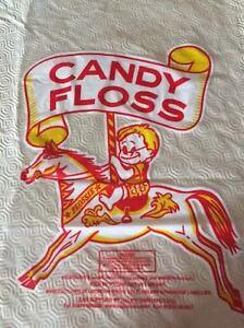 """11"""" x 18"""" PRINTED CANDY FLOSS BAGS Frozen Pink Cloud Clown Face Boy Carousel"""