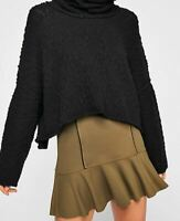 Women's NWT Free People Highlands Mini Skirt Olive / Army green size M