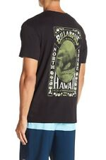 Billabong S Men's Tee T-Shirt S/S Black Vintage Pipe Masters North Shore Hawaii