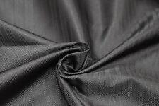 Black Herringbone Satin Jacquard Damask - For Ties, Waistcoats, Jackets, & More