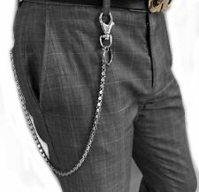 New Stainless steel Pants Trousers Waist Keychain Biker Rock Wallet Chain