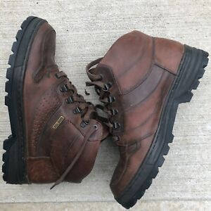 MEPHISTO Boots US 8.5 Brown Leather Ankle Lace Up Hiking Womens Gore Tex Cushion
