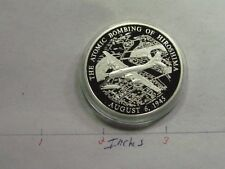 ATOMIC ATOM BOMBING OF HIROSHIMA 1945 WWII VERY RARE 999 SILVER COIN HISTORY A6