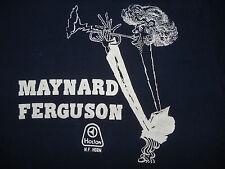 Vintage 1970s MAYNARD FERGUSON T SHIRT Holton Horn JAZZ CONCERT RARE Med Tall