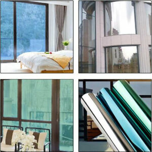 Reflective one way mirror window film self adhesive Width: 20''Glass House Stick