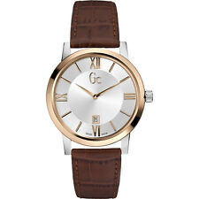 GUESS Collection GC x60002g1s MEN'S LEATHER IN ACCIAIO INOX SLIM OROLOGIO di classe