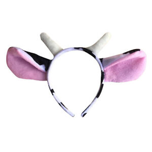 1/10Pcs Cute Cow Headwear Nursery Performance Props Cow Headband Activity PropSA
