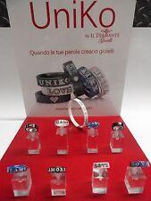 Anelli UNIKO ceramica oro 18 kt 750 diamanti -Il diamante-