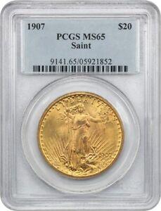 1907 Saint Gaudens $20 PCGS MS65 - First Year Saint Gaudens Issue