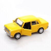 1:36 Vintage Lada VAZ-2101 Metall Die Cast Modellauto Auto Spielzeug Gelb Neu