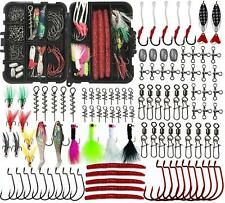 Fishing Lures Accessories Kit 100Pcs Saltwater Lures Hooks Swivel Snaps Tackle