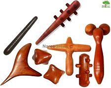 Set 8 Pcs. Reflexology Thai Massage Wooden Sticks Tools Hand Head Foot Body