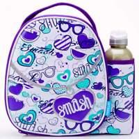 Smash Pendant Lunch Bag/Box and 500ml Bottle Set | Lunchbox for Girls