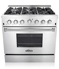 Thor Kitchen 36″ Freestanding Pro-style 6 Stainless Steel Burner Gas Range New