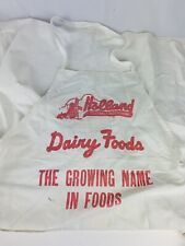 Rare Holland Dairy Foods Employee Cloth Apron Holland, Indiana