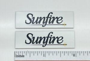 Sunfire Altoparlante Amplificatore Subwoofer Distintivi Paio Custom Alluminio