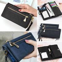 US Women Lady Clutch Leather Wallet Long Card Holder Phone Case Purse Handbag