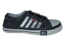 mujer Zapatillas De Tela/Zapatillas de lona, Negro/ Plata ,Talla 5 (EUR38)